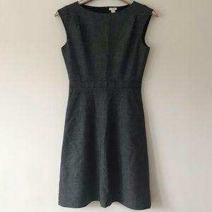 J.Crew Factory Pleated Wool Blend Tweed Dress 2